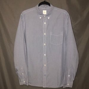 Men's blue and white button down
